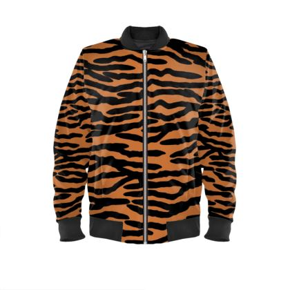 Bomber Jacket Tiger skin pattern