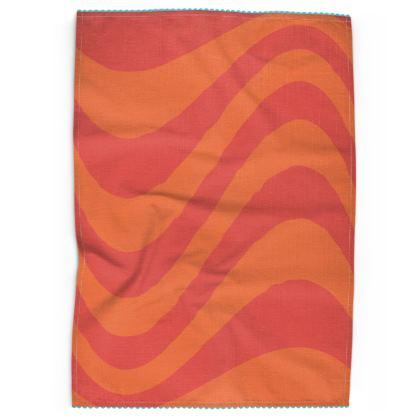 Sunset Wave Tea Towel
