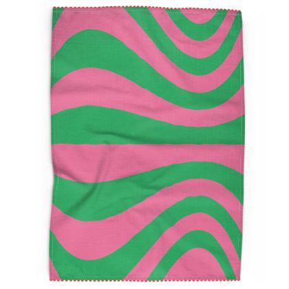 Bubblegum Wave Tea Towel