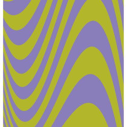 Lilac & Lime Wave Cushion