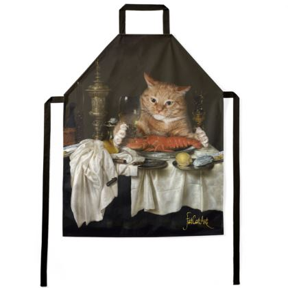 "Apron ""Still Life with the Lobster Measured by the Cat"""