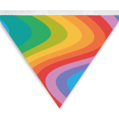 Rainbow Wave Party Bunting