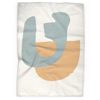 Abstract Desert Tea Towel