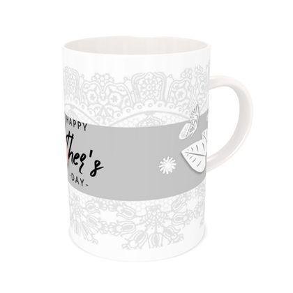 Mother's day bone china mug - Doodle design
