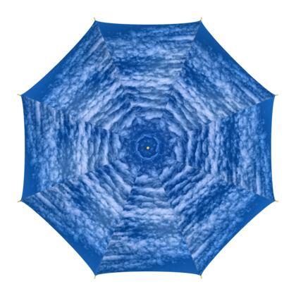 PRINTED UMBRELLA - BLUE SKIES