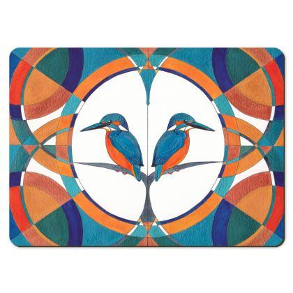 Symmaria Kingfisher Large Placemats
