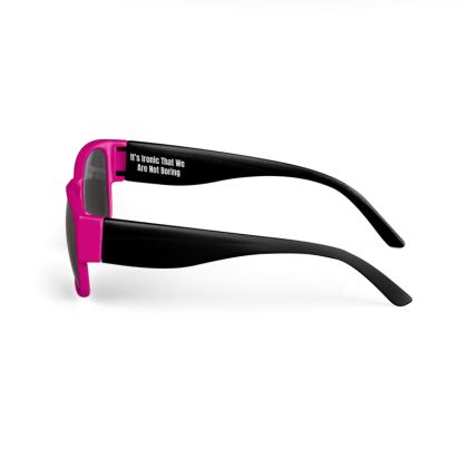 Boring Clothing Uk Pink & Black Sunglasses