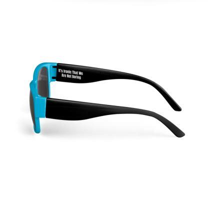 Boring Clothing Uk Blue & Black Sunglasses
