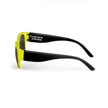 Boring Clothing Uk Yellow & Black Sunglasses