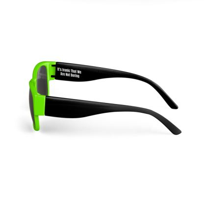 Boring Clothing Uk Green & Black Sunglasses