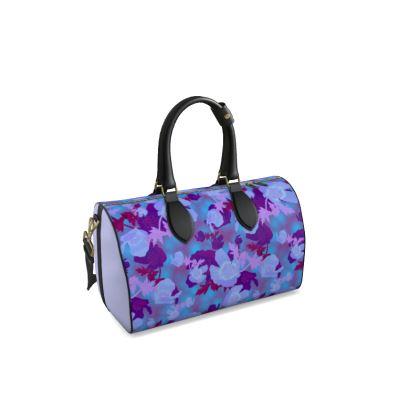 Duffle Bag  Field Poppies  Midnight