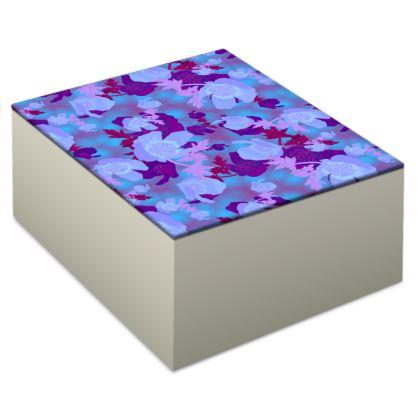 Jewellery Box [blue]  Field Poppies  Midnight