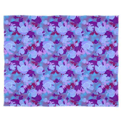 Scarf Wrap Or Shawl [blue]  Field Poppies  Midnight