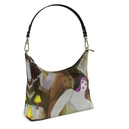 PARISIENNE LUXE LEATHER HOBO BAG