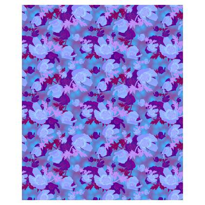 Ladies Bomber Jacket [blue]  Field Poppies  Midnight