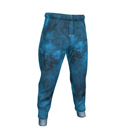 Mens Jogging Bottoms Watercolor Dark Blue