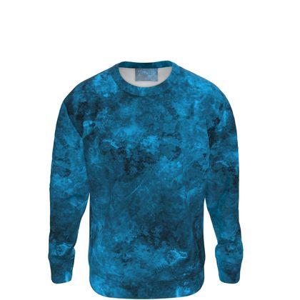 Sweatshirt Watercolor Dark Blue