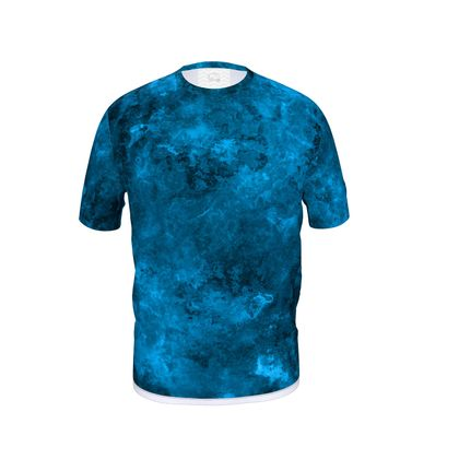 Mens Cut And Sew T-Shirt Dark Blue