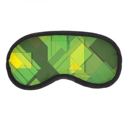 Eye Mask Modern Green Pattern