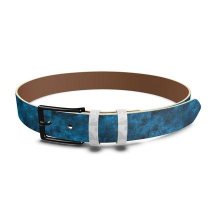 Leather Belt Dark Blue
