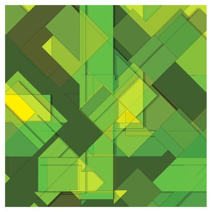 Luggage Tag Abstract Green Print