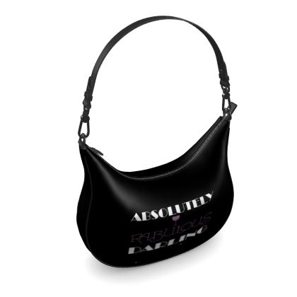Curve Hobo Bag - Absolutely Fabulous Darling - ABFAB (White text) 2