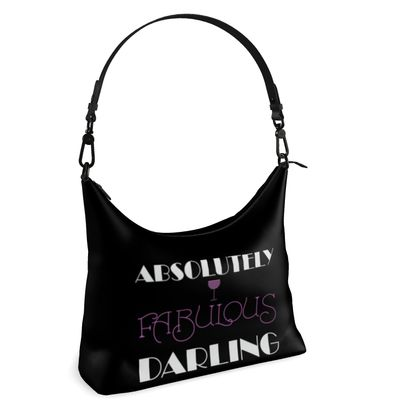 Square Hobo Bag - Absolutely Fabulous Darling - ABFAB (White text) 2