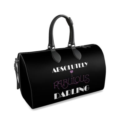 Duffle Bag - Absolutely Fabulous Darling - ABFAB (White text) 2