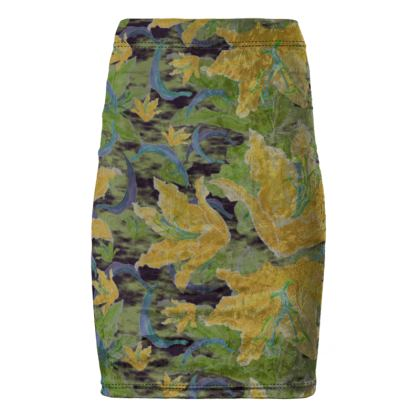 Pencil Skirt [green, yellow]  Lily Garden  Sylph