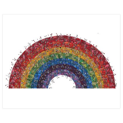 Crazy Creature Rainbow Poster
