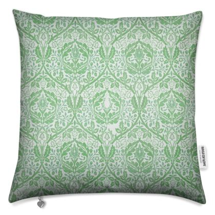 Luxury Cushions - William Morris' Golden Bough Green Remix
