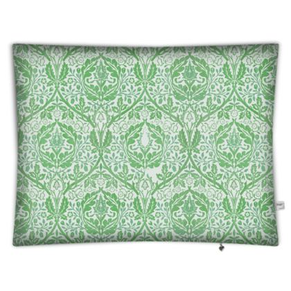 Floor Cushions - William Morris' Golden Bough Green Remix