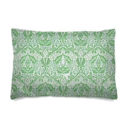 Pillow Case - William Morris' Golden Bough Green Remix