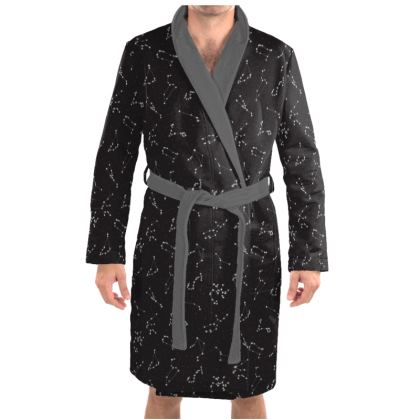 Zodiac Constellations Print Dressing Gown