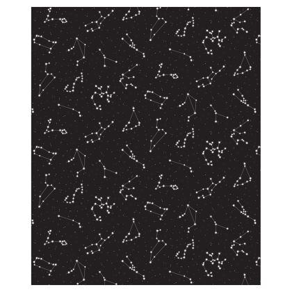 Zodiac Constellations Print Ladies Bomber Jacket