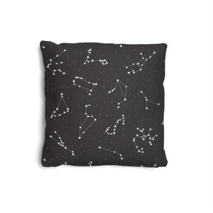Zodiac Constellations Print Pillows Set