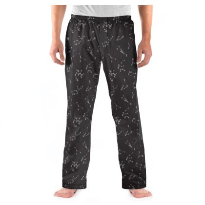 Zodiac Constellations Print Mens Pyjama Bottoms