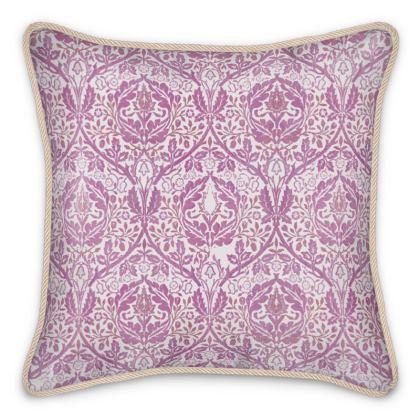 Silk Cushions - William Morris' Golden Bough Pink Remix