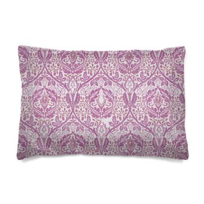 Pillow Case - William Morris' Golden Bough Pink Remix