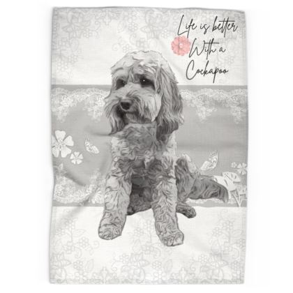 Life is Better with a cockapoo tea towel