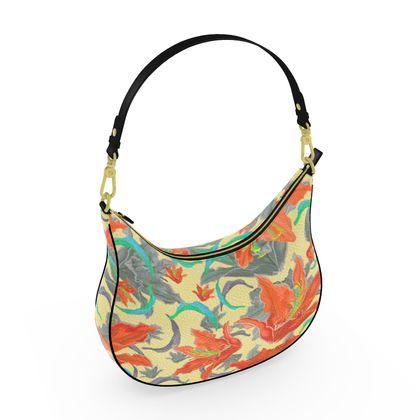 Curve Hobo Bag [orange, turquoise]  Lily Garden  Orangery