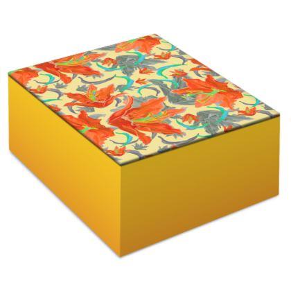 Jewellery Box [orange, turquoise]  Lily Garden  Orangery