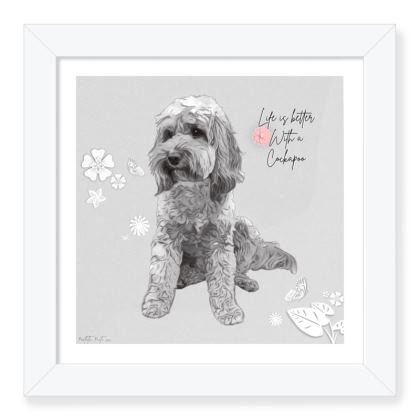 Beautiful framed cockapoo print