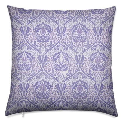 Luxury Cushions - William Morris' Golden Bough Purple Remix