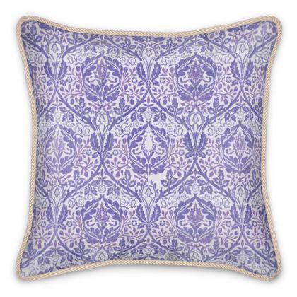 Silk Cushions - William Morris' Golden Bough Purple Remix