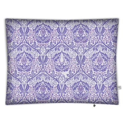 Floor Cushion Covers - William Morris' Golden Bough Purple Remix