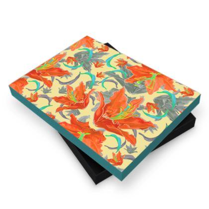 Photo Book Box [orange, turquoise]  Lily Garden  Orangery