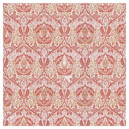 Luxury Cushions - William Morris' Golden Bough Red Remix