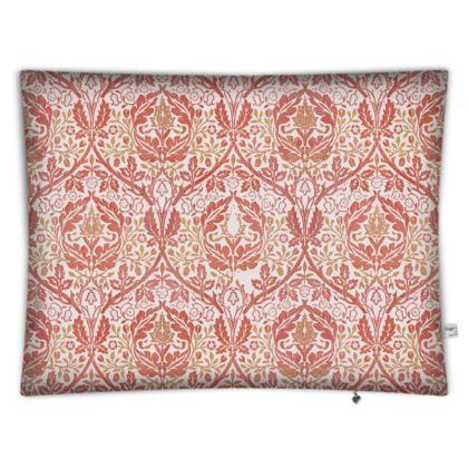 Floor Cushions - William Morris' Golden Bough Red Remix