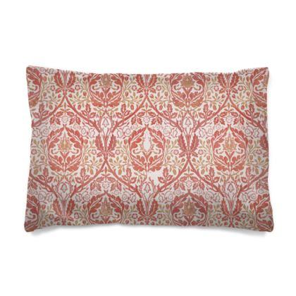 Pillow Case - William Morris' Golden Bough Red Remix
